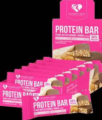 Women's Best Protein Bar Peanut Butter Caramel Crunch (12 x 44 gr)